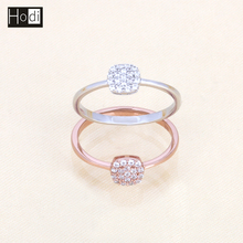 Wholesale High Quality 3A Cubic Zirconia Rose Gold Jewelry Ring,Latest Gold Finger Ring Designs for Girls