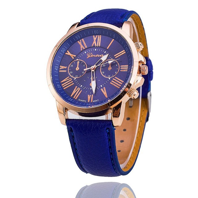 New Fashion Geneva Watches Women Dress Watches Leather Strap Casual Quartz Watches Relogio Feminino Montre Femme BWSB1130