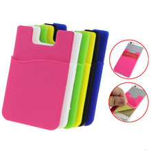 BUFFLE 3M Mobile Phone Card Stickers Flexible Pouch Bag Credit Card Holder for iPhone 7 Plus 6 Plus 5S Universal for All Phone