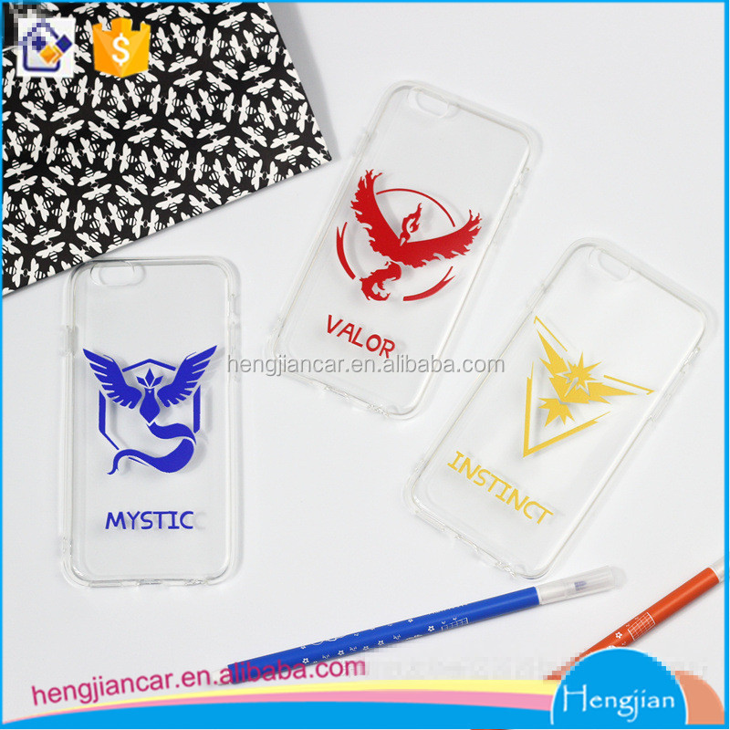 Team Valor Mystic Instinct pokemon phone cases for iphone5s,6s,6plus