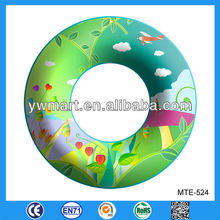 Plastic inflatable swim ring, plastic PVC inflatable swim ring for kids