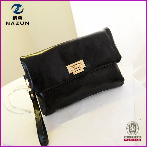 trendy designer black color clutch purse for women