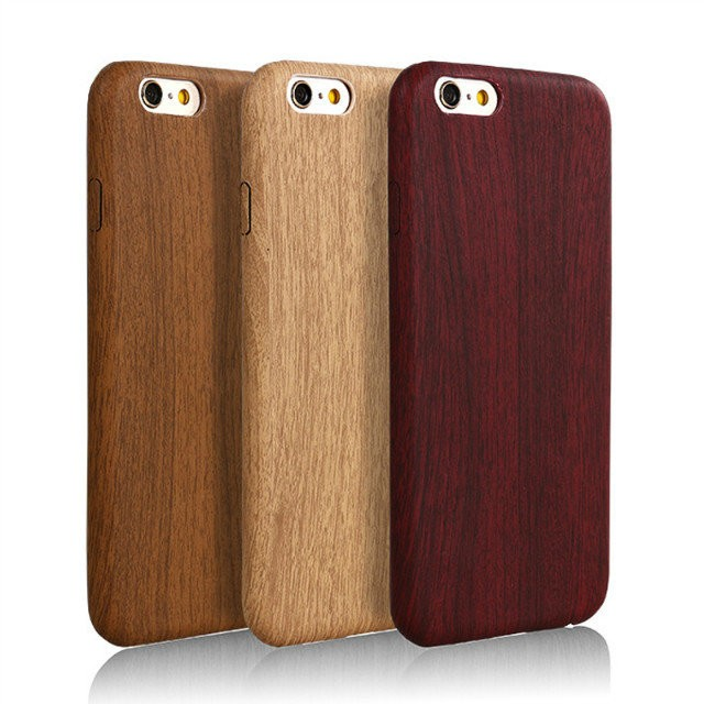 For iphone 6s phone case wood, ultrathin PU Phone Case for iphone 6s Wooden case cover