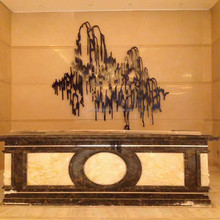Abstract Image in Chinese Ink and Wash Style Popular at Hotel and Office Decoration Welding the Pieces Together Wall Metal Craft