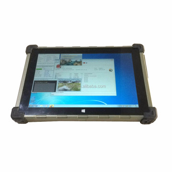 "Factory Cheapest 10.1""Intel quad core mental rugged tablet pc with Linux OS UHF RFID embedded pc computer with GPS RS232 RJ45"