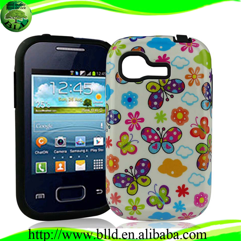 Multiple Choose Printing Pattern PC TPU design Case accesorios para celular mayoreo for Samsung S5303 Y plus