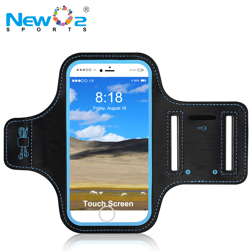 New For Sale Cheap Promotional Personalized Neoprene Armband Neoprene Mobile Accessories Running Cellphone Armband for iPhone 8