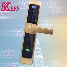 European biometric fingerprint door lock with riid card and keypad security scanner