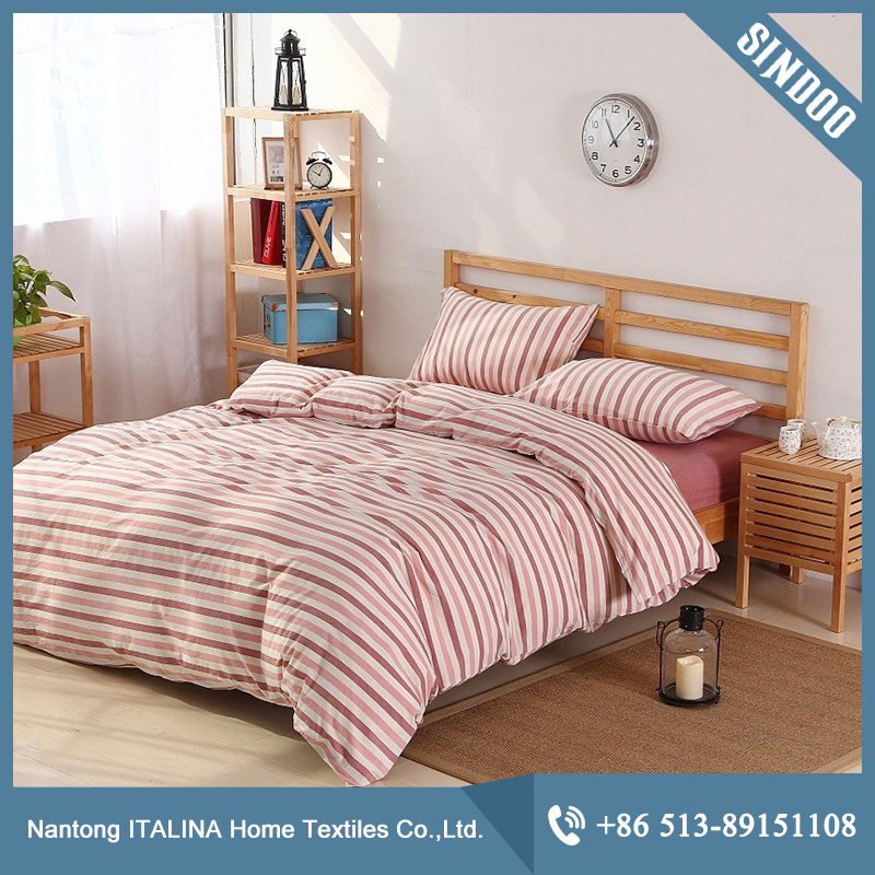 Factory direct sale vintage grey washed cotton bed linen manufacturer
