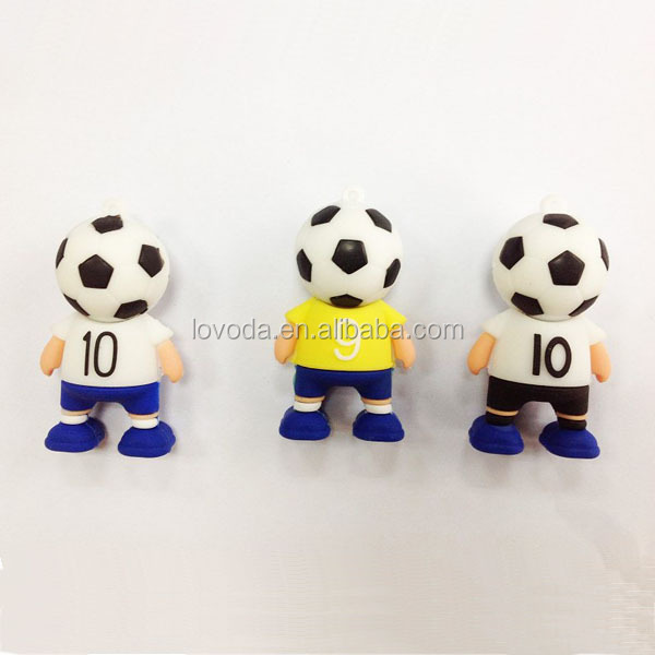 Customized football boy shaped usb flash disk/windows xp usb drivers download/usb housing for promotional gift LFWC-09