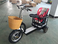 SDN Adult new electric 3 wheel mother scooters with kids seat