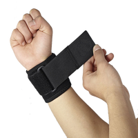 New products 2015 elastic adjustable pressurized black laptop wrist support/ wrist guards weight lifting/ basketball wristband