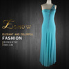 2016 Wholesale Graceful One-shoulder Beaded Fashion Evening Dress for Ladies