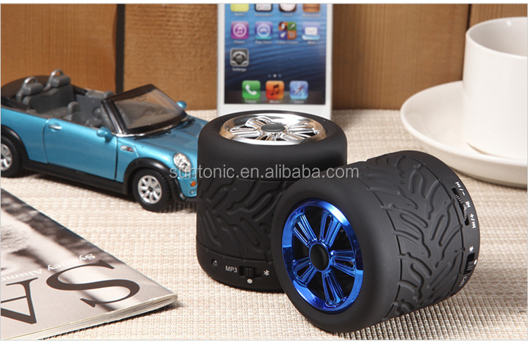 Tire Shape Outdoor Stereo Bluetooth Wireless Speaker Waterproof, Dustproof, Shockproof, Unique Design for Iphone 6,samsung S6