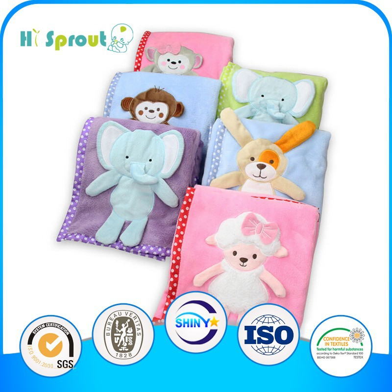 Different Animal Design High Quality Swaddle Blanket for Kids