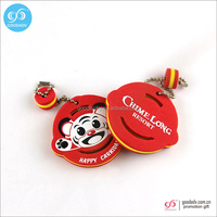 China supplier wholesale promotional gift foam key tags custom souvenir eva floating keyring