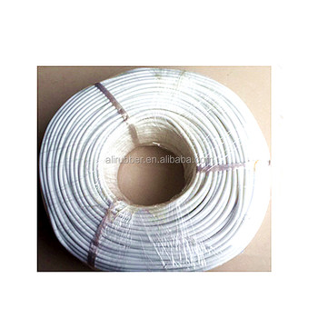 Silicone heating Cable for Mechanical Devices 220V 45W/M Diameter 5mm White Silicone Rubber Heating Wire