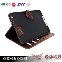 2016 top hot selling vintage style luxury genuine leather tablet case for Ipad Air2 tablet bag
