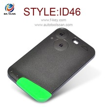 AK010003 Auto fob 2 button 433Mhz ID46 PCF7947AT with logo key for Renault Laguna
