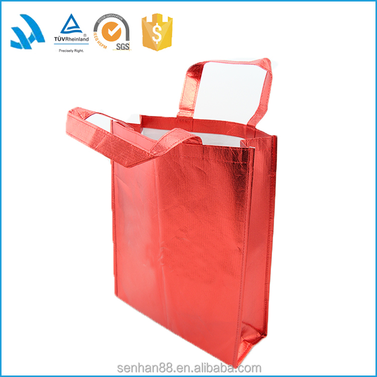 New Style Croco emboss custom full color pp non woven laminated shopping bag