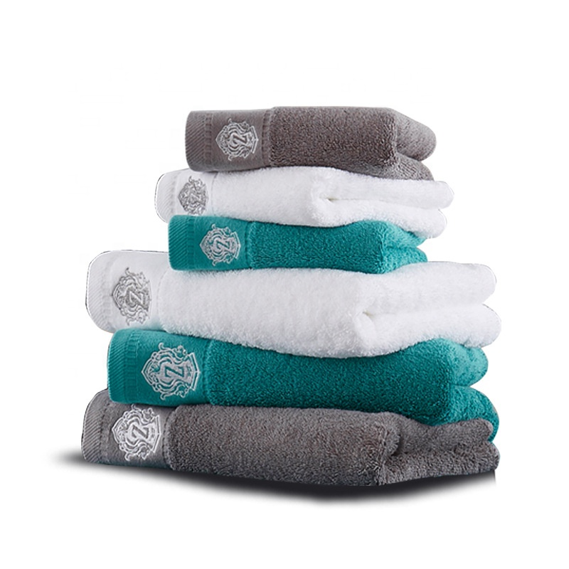 Sublimation 100% cotton luxury soft hotel guest hand towels super absorbent and thick cleaning monogrammed