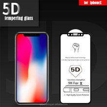 High Quality 3D Curved Full Cover Tempered Glass Screen Protector For Iphone X