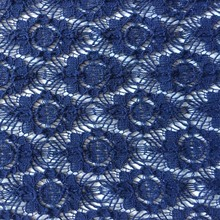 hot nylon cotton textile lace fabric in blue