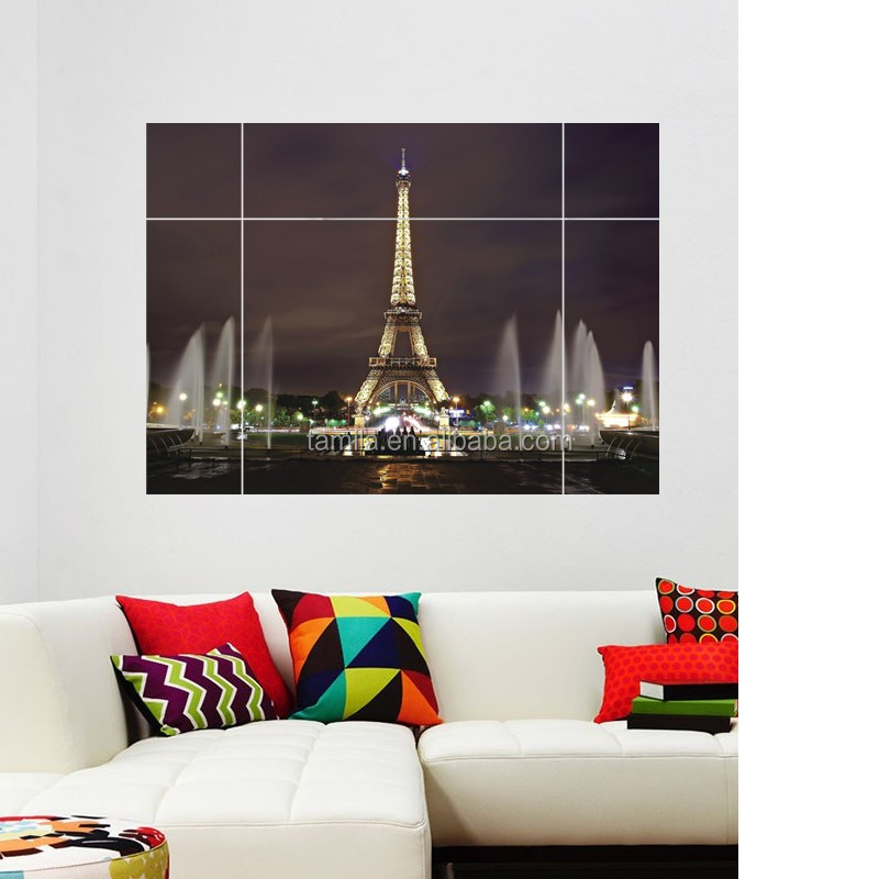 New hot Eiffel Tower design easy peel off wall sticker house decal