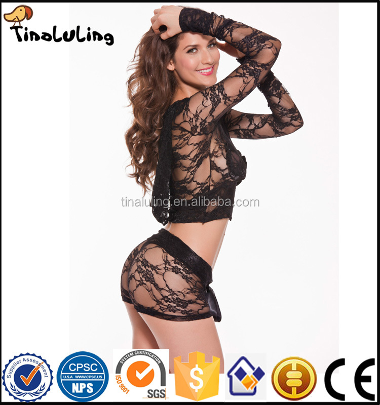 China manufacture OEM transparent lace sexy ladies night lingeries
