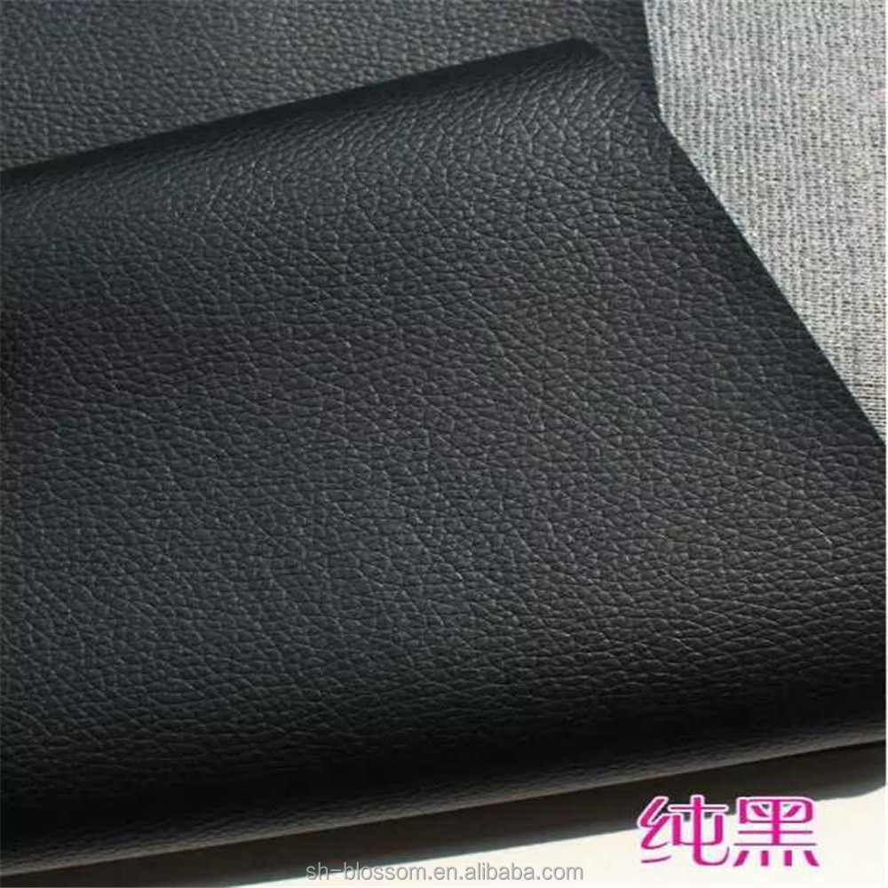 litchi grain pu leather for bags material