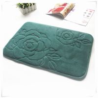 Absorbent Fast Dry Washable bathtub mat/Memory foam bath mat_ Qinyi