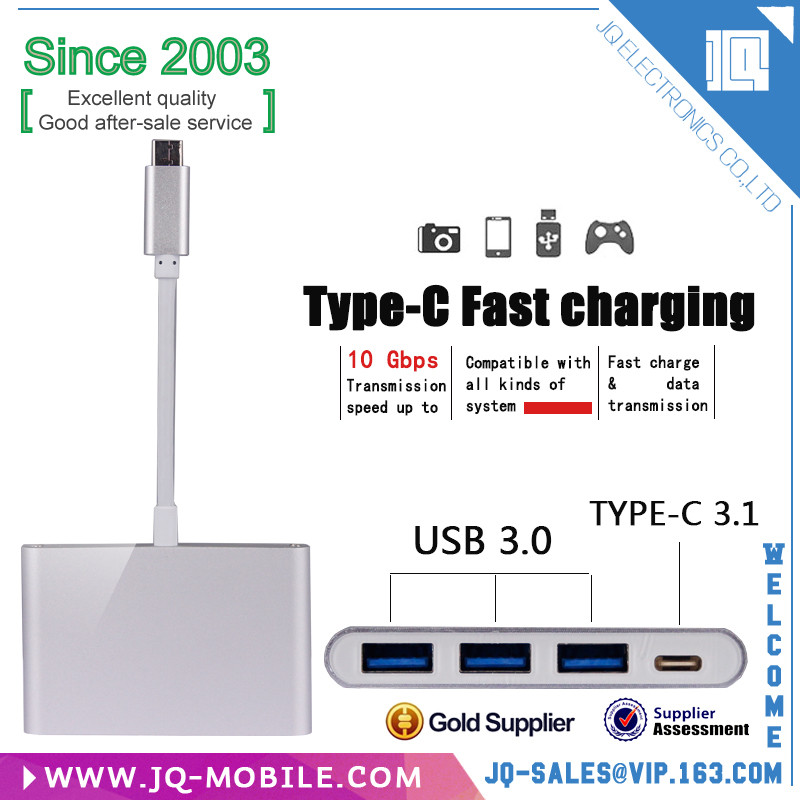 HUB-09C Type C USB 3.0+ HUB Charger USB Charging Port with 2 Port for New Macbook