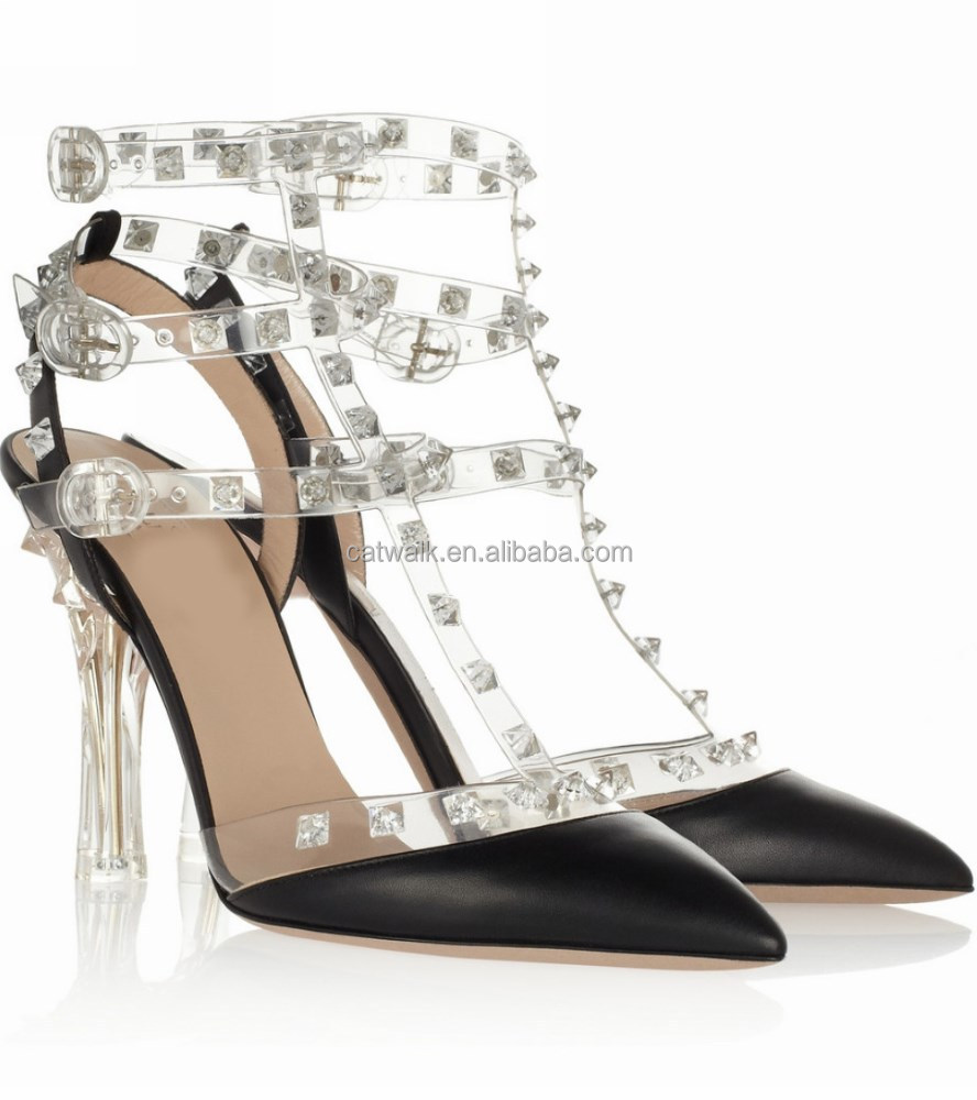 new collection crystal heels high heel sexy woman pumps 2014 fashion pointed toe high heel shoes with diamond straps