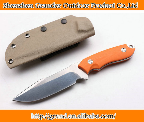 Orange G10 Handle Fixed Blade Camping <strong>Knives</strong> Straight <strong>Knife</strong> Survival Tactical <strong>Knife</strong> EDC Tools 6826