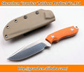 Orange G10 Handle Fixed Blade Camping Knives Straight Knife Survival Tactical Knife EDC Tools 6826