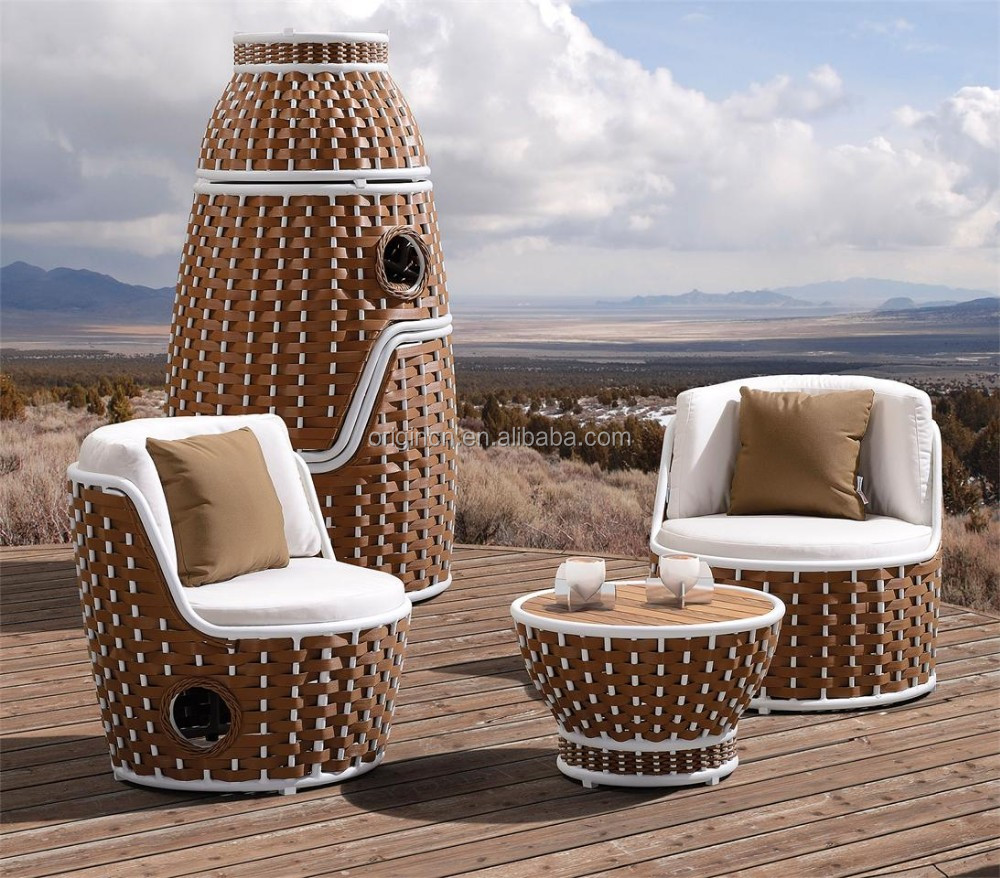 Tower shaped stackable chairs and round table special wicker outdoor spanish bar furniture