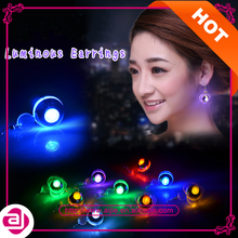 Fashion cool party festival favor shiny glowing led light earrings