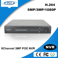 china dvr manufacturer 8channel h 264 standalone POE NVR network dvr setup