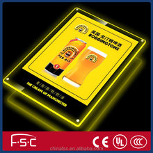 Ultrathin acrylic poster frames with light
