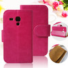 Stylish Mini Style Crystal Grain Pattern Stand Magnetic Leather Back Cover for Motorola RAZR D1 XT916 XT918 Case With Card Slot