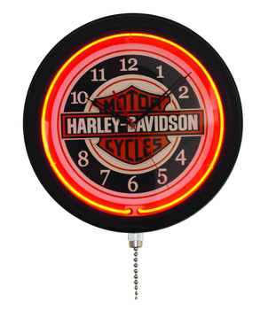 16inch neon light wall clock single neon light