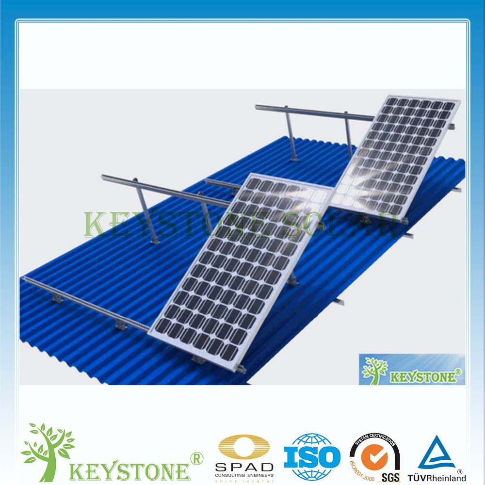 Newest adjustable roof solar panel mountig for solar pv energy
