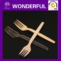 Disposable elegant hard plastic fork