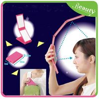 high quality square makeup mirror ,H0T043 portable magnifying mirror , double folding cosmetic mirror