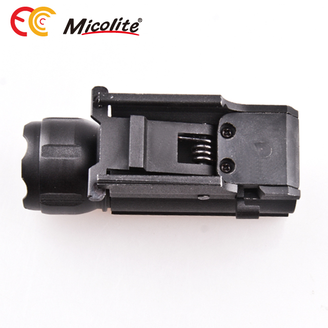 LED Tactical Gun Flashlight 2-Modes 250LM Pistol Handgun Torch Light for Hiking,Camping,Hunting,Outdoor Activities
