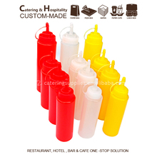 Plastic Squeeze Sauce Dispense Salad Dressing Bottles Ketchup Bottles With Cap