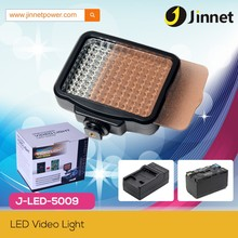 Photographic lighting LED-5009 small camera LED video lamp with 120 leds and fliters