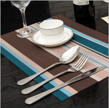 Easy-Care Durable table mats kitchen placemat Woven Vinyl Placemats