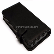 Custom Mobile Phone Genuine Leather Flip Flap Case Cover for iPhone 5