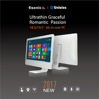 21.5 inch Esonic Aio pc intel i7 1920x1080 HD touch screen white all in one computer